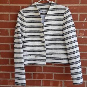 Calvin Klein cropped striped Blazer size 10